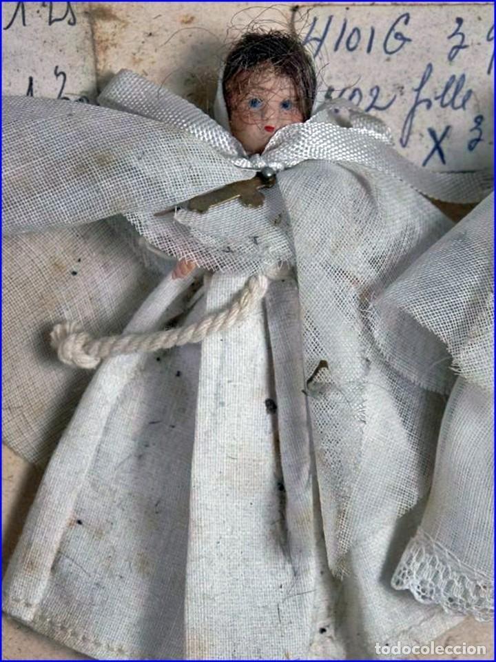 Antigüedades: AÑOS 20: COLECCIÓN DE FIGURAS (COMUNIÓN. BODA...) . De textil y plástico, en parte celuloide - Foto 8 - 191525897