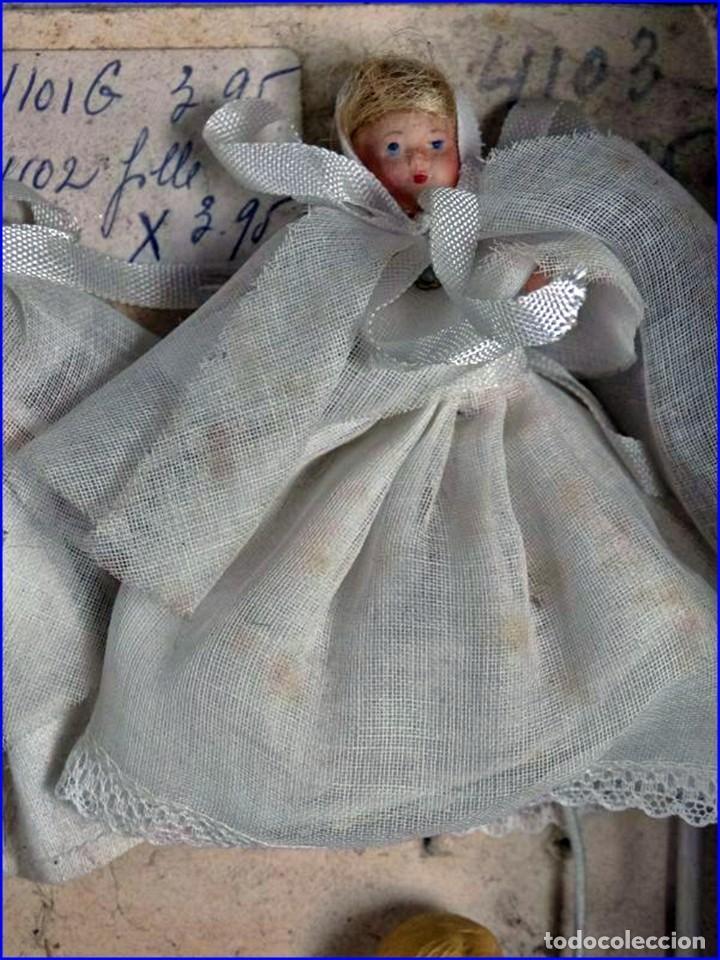Antigüedades: AÑOS 20: COLECCIÓN DE FIGURAS (COMUNIÓN. BODA...) . De textil y plástico, en parte celuloide - Foto 9 - 191525897