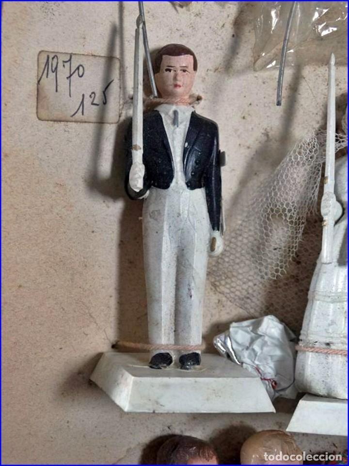 Antigüedades: AÑOS 20: COLECCIÓN DE FIGURAS (COMUNIÓN. BODA...) . De textil y plástico, en parte celuloide - Foto 10 - 191525897