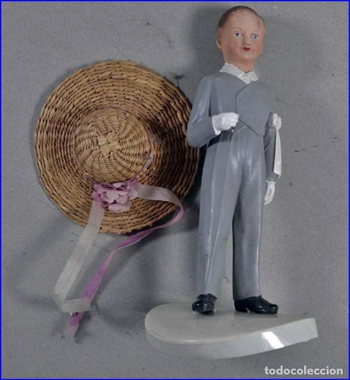 Antigüedades: AÑOS 20: COLECCIÓN DE FIGURAS (COMUNIÓN. BODA...) . De textil y plástico, en parte celuloide - Foto 11 - 191525897