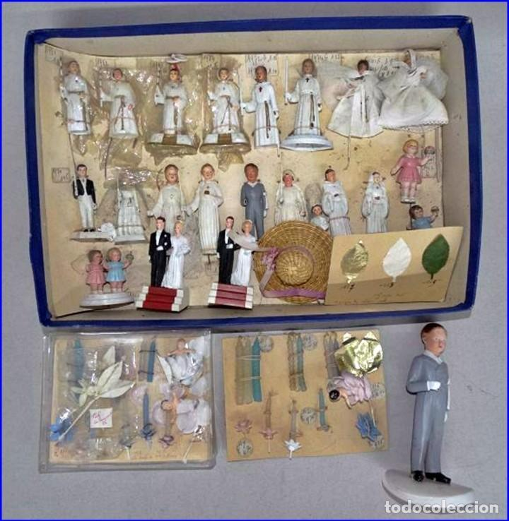 Antigüedades: AÑOS 20: COLECCIÓN DE FIGURAS (COMUNIÓN. BODA...) . De textil y plástico, en parte celuloide - Foto 13 - 191525897
