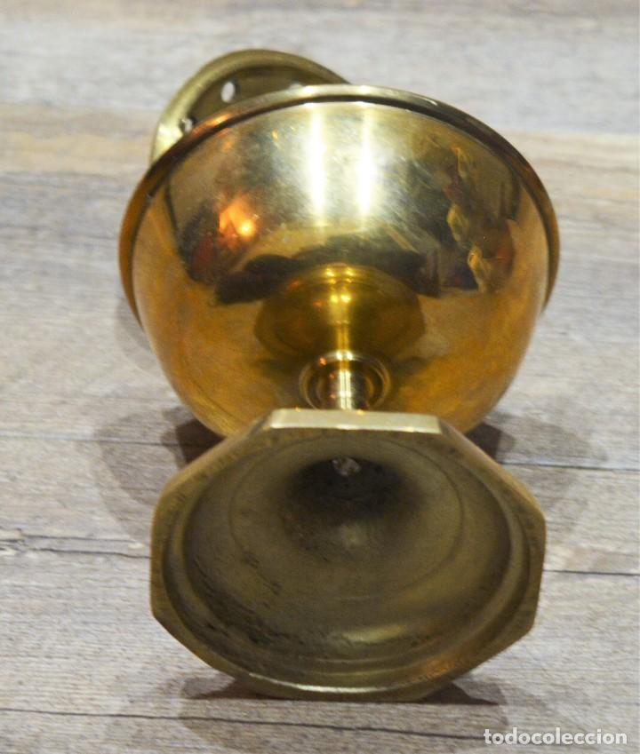 Antigüedades: PRECIOSO INCIENSARIO / QUEMADOR INCIENSO / LAMPARILLA PORTA VELAS EN BRONCE - Foto 7 - 191526471