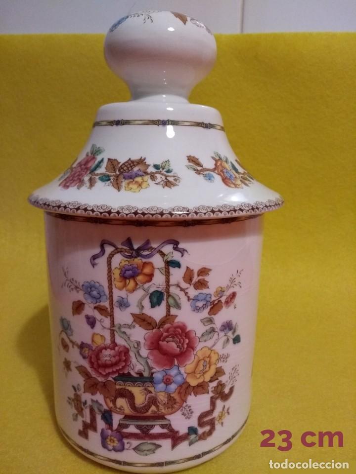 TARRO BOMBONERA PORCELANA SAN CLAUDIO (Antigüedades - Porcelanas y Cerámicas - San Claudio)