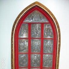 Antigüedades: CUADRO RETABLO NAVIDEÑO CON ESCENAS DEL NACIMIENTO E INFANCIA DE JESUS. Lote 191540127