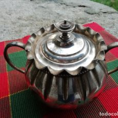 Antigüedades: AZUCARERO EN METAL ANGLAIS. Lote 191541666