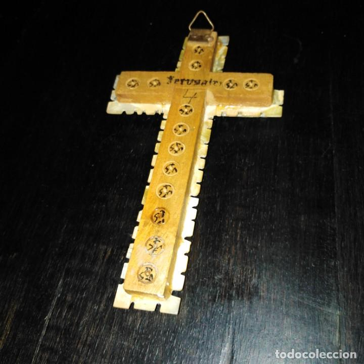 Antigüedades: Antigua crucifijo nacar y madreperla. siglo xix - Foto 2 - 191543631