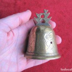 Antigüedades: CAMPANA TIBETABNA EN BRONCE Y LATÓN, BONITO SONIDO RELAJANTE. Lote 191554661