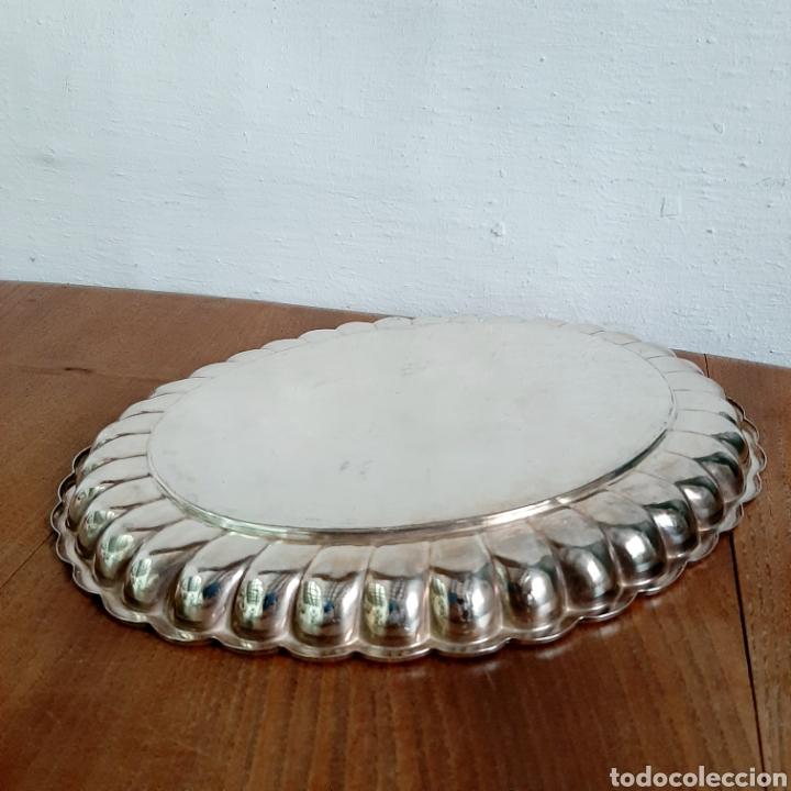Antigüedades: Antigua bandeja ovalada de plata sellada * 183,2 gr - Foto 3 - 191568056