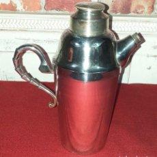 Antigüedades: ANTIGUA CAFETERA BAÑADA EN PLATA 1ª M S.XX. Lote 191570746