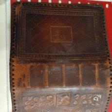 Antigüedades: FUNDA PIEL PARA MISAL. Lote 191582217