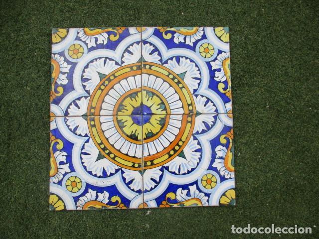 AZULEJO VALENCIANO SIGLO XIX (Antigüedades - Porcelanas y Cerámicas - Azulejos)