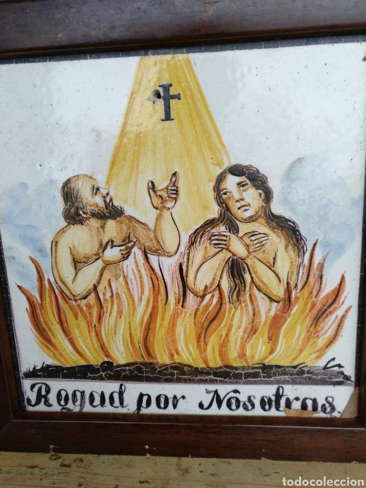 AZULEJO ROGAD POR NOSOTRAS (Antigüedades - Porcelanas y Cerámicas - Azulejos)