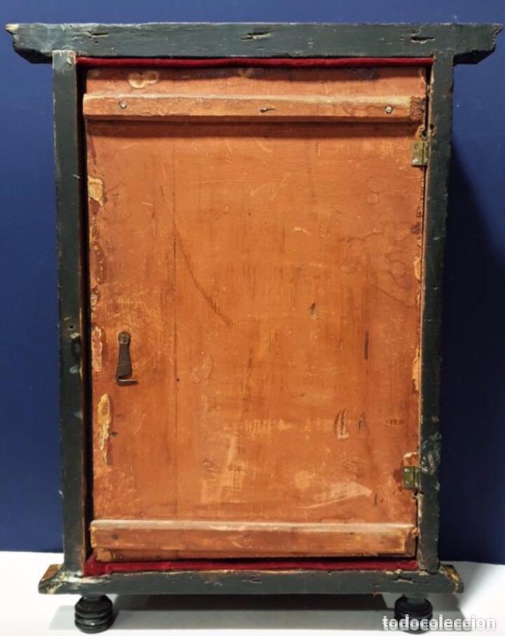Antigüedades: ANTIGUA HORNACINA DEL SIGLO XVIII EN MADERA Y PAN DE ORO - Foto 7 - 191597273