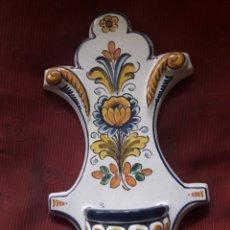 Antigüedades: ANTIGUA BENDITERA DE CERÁMICA DE TALAVERA. Lote 191598601