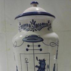 Antigüedades: TARRO CERAMICA FARMACIA, G. B. BALI. ALTURA 37, DIAMETRO 15 CM. Lote 191600562