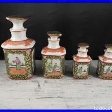 Antigüedades: BOTES ESENCIEROS DE PORCELANA CHINA ANTIGUA EN PERFECTO ESTADO. Lote 191641047