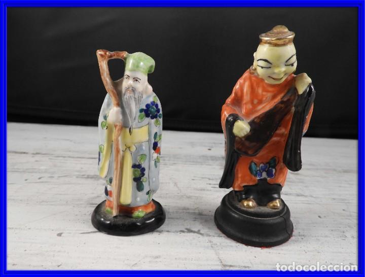 PAREJA DE ANTIGUAS FIGURAS DE PORCELANA CHINA (Antigüedades - Porcelanas y Cerámicas - China)