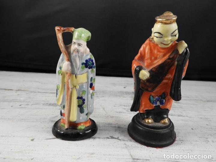 Antigüedades: PAREJA DE ANTIGUAS FIGURAS DE PORCELANA CHINA - Foto 12 - 191642457