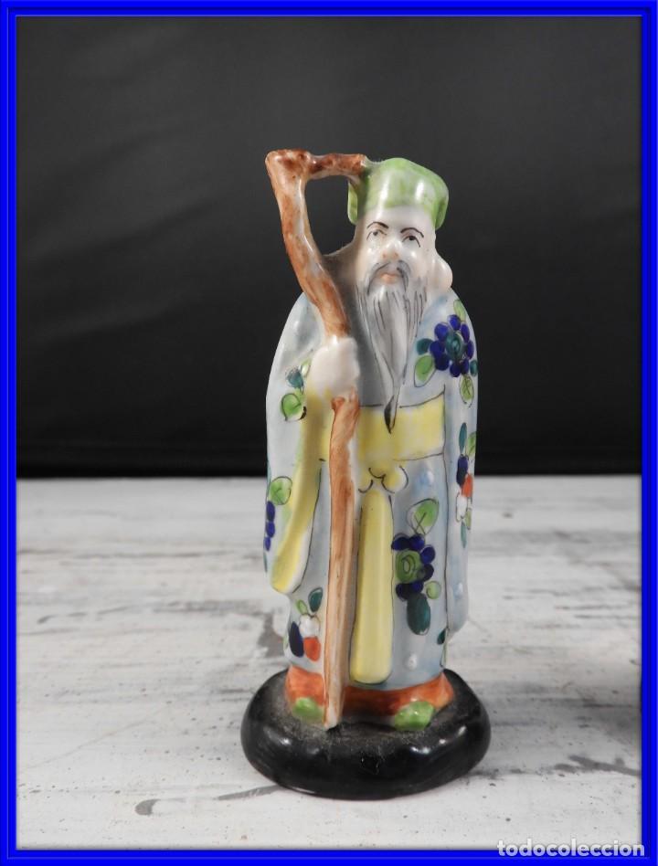 Antigüedades: PAREJA DE ANTIGUAS FIGURAS DE PORCELANA CHINA - Foto 2 - 191642457