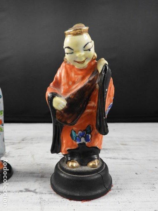 Antigüedades: PAREJA DE ANTIGUAS FIGURAS DE PORCELANA CHINA - Foto 6 - 191642457