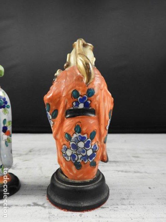 Antigüedades: PAREJA DE ANTIGUAS FIGURAS DE PORCELANA CHINA - Foto 8 - 191642457
