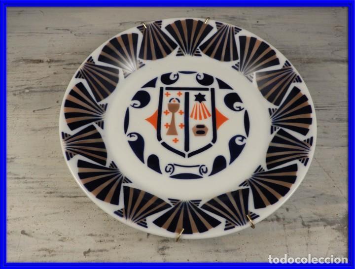 PLATO DE PORCELANA DE SARGADELOS DIAMETRO 19,5 CM (Antigüedades - Porcelanas y Cerámicas - Sargadelos)