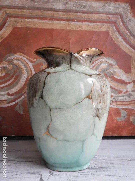 Antigüedades: BONITO JARRON DE CERAMICA VIDRIADA CON VISTOSOS COLORES - Foto 10 - 191654772