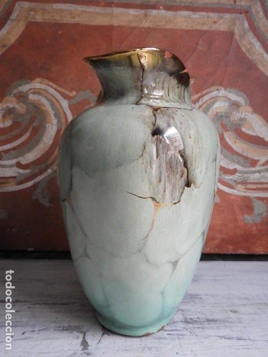 Antigüedades: BONITO JARRON DE CERAMICA VIDRIADA CON VISTOSOS COLORES - Foto 6 - 191654772