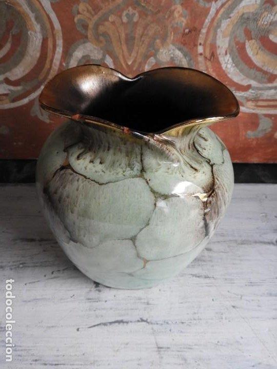 Antigüedades: BONITO JARRON DE CERAMICA VIDRIADA CON VISTOSOS COLORES - Foto 8 - 191654772