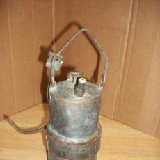 Antigüedades: ANTIGUO FAROL DE MIRERO A CARBURO. Lote 191656105