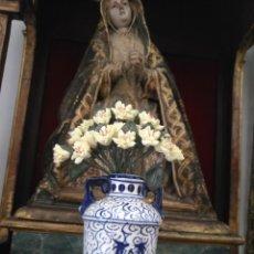 Antigüedades: PAREJA Nº 15 - RAMILLETES RAMO FLORES PARA JARRAS CRATERAS CAPILLAS VIRGEN NIÑO JESUS SEMANA SANTA. Lote 191688351