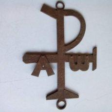 Antigüedades: CRUZ LABARUM LÁBARO DE HIERRO. Lote 191688360