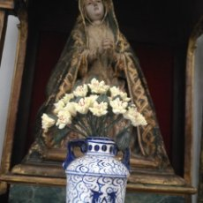 Antigüedades: PAREJA Nº 18 - RAMILLETES RAMO FLORES PARA JARRAS CRATERAS CAPILLAS VIRGEN NIÑO JESUS SEMANA SANTA. Lote 191688631