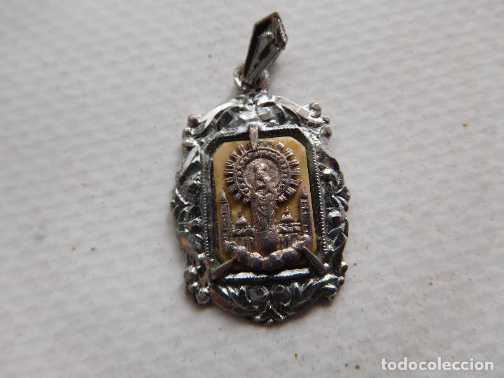 MEDALLA ANTIGUA DE PLATA VIRGEN DEL PILAR ZARAGOZA (Antigüedades - Religiosas - Medallas Antiguas)