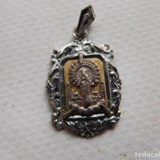 Antigüedades: MEDALLA ANTIGUA DE PLATA VIRGEN DEL PILAR ZARAGOZA. Lote 191706656