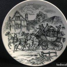 Antigüedades: PLATO CERAMICA SAN CLAUDIO MOTIVO CARRUAJE.. Lote 191713373
