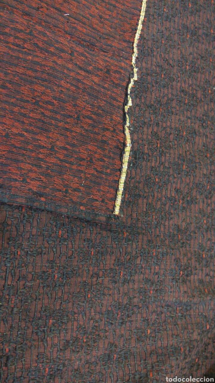 Antigüedades: Delantal antiguo de algodon y seda - Foto 4 - 185970140