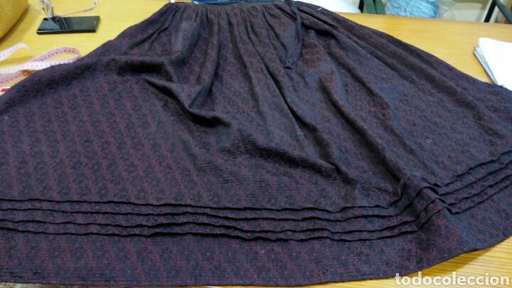 Antigüedades: Delantal antiguo de algodon y seda - Foto 5 - 185970140