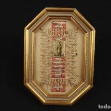Antigüedades: ANTIGUO RELICARIO CON VARIAS RELIQUIAS DE SANTOS. Lote 191719171