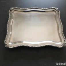 Antigüedades: BANDEJA DE METAL PLATEADO. Lote 191723251