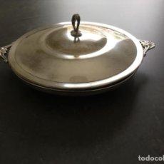 Antigüedades: FUENTE DE METAL PLATEADO. Lote 191723668