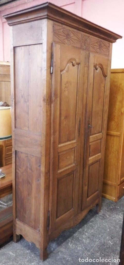 ARMARIO ANTIGUO ROBLE FRANCÉS. (Antigüedades - Muebles Antiguos - Armarios Antiguos)