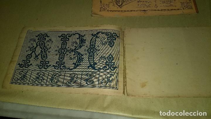 Antigüedades: Dessins de Broderies Sajou Paris. Álbumes Nº 605 y 606 - Foto 4 - 191729745