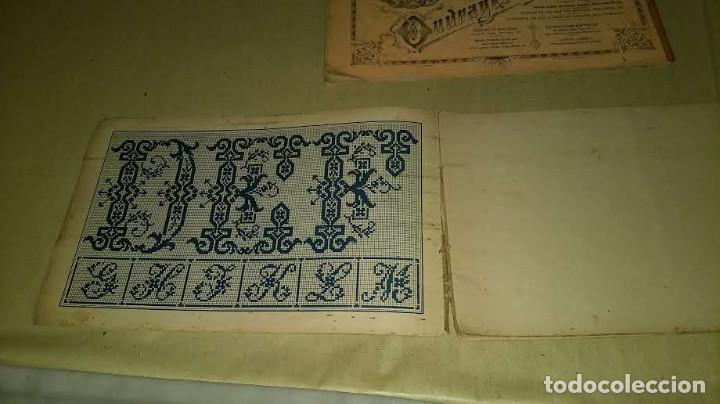 Antigüedades: Dessins de Broderies Sajou Paris. Álbumes Nº 605 y 606 - Foto 5 - 191729745