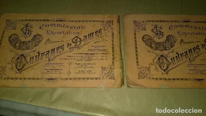 Antigüedades: Dessins de Broderies Sajou Paris. Álbumes Nº 605 y 606 - Foto 40 - 191729745