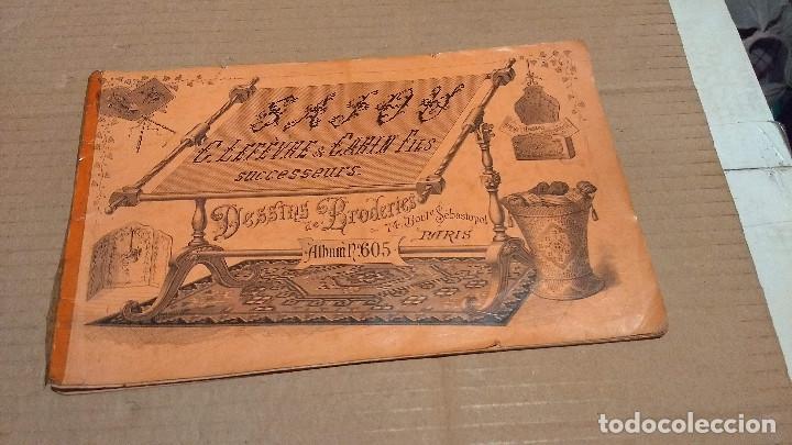 Antigüedades: Dessins de Broderies Sajou Paris. Álbumes Nº 605 y 606 - Foto 3 - 191729745