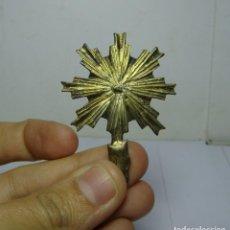 Antigüedades: POTENCIA O CORONA PARA IMAGEN RELIGIOSA. BRONCE.. Lote 191730851