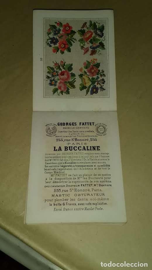 Antigüedades: Recueil de Motifs et Alphabets Coloriés Pour Travaux en Tapisserie. Paris 1876. Álbum Nº 402 - Foto 16 - 191733770
