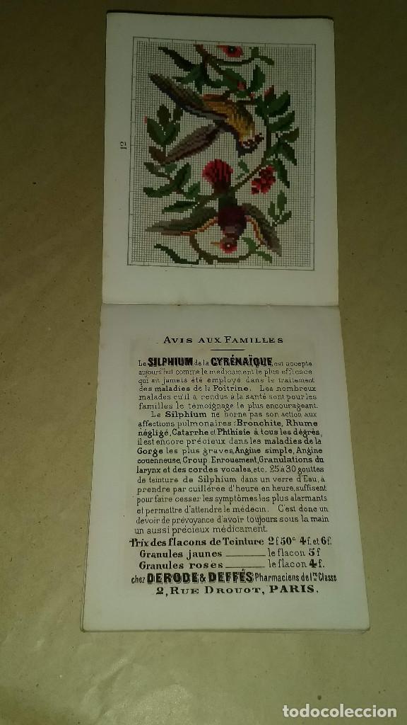 Antigüedades: Recueil de Motifs et Alphabets Coloriés Pour Travaux en Tapisserie. Paris 1876. Álbum Nº 402 - Foto 18 - 191733770