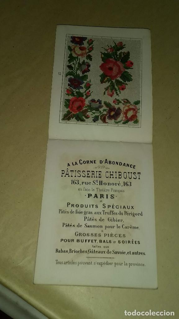 Antigüedades: Recueil de Motifs et Alphabets Coloriés Pour Travaux en Tapisserie. Paris 1876. Álbum Nº 402 - Foto 19 - 191733770